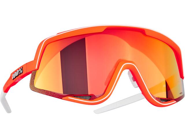 100% Glendale Gafas, naranja/rojo